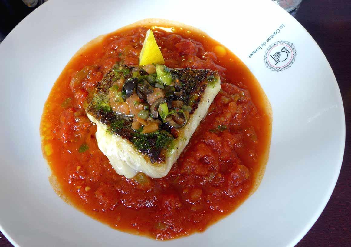 Restaurant La Cantine du Troquet Pereire : Merlu à la basquaise