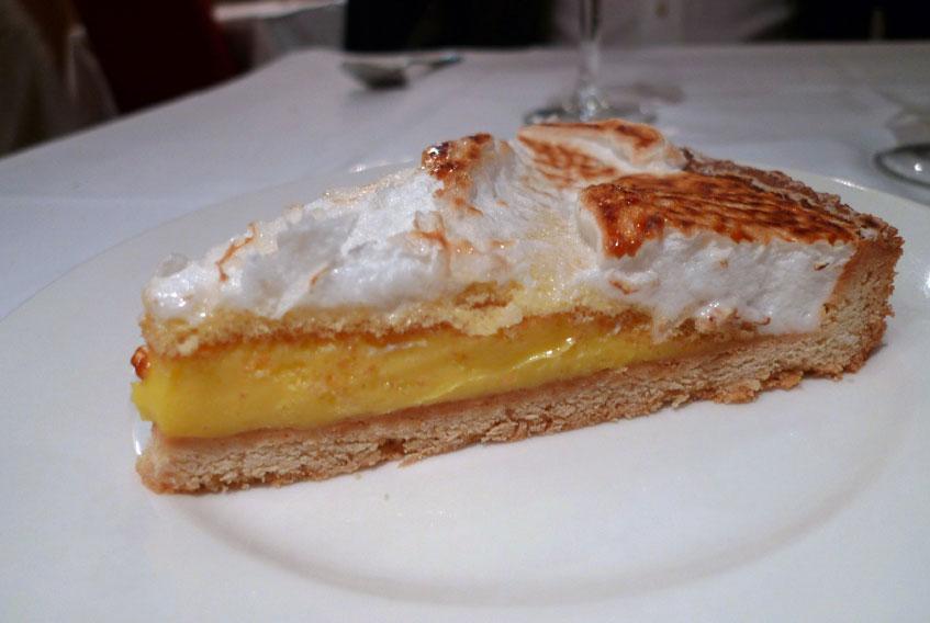 Restaurant La Corte, tarte au citron meringuée