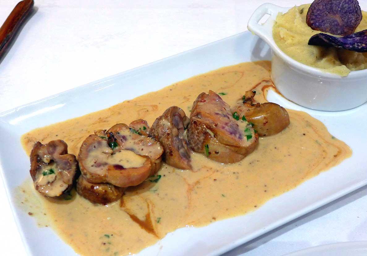 Restaurant LA COUPOLE : Rognon de veau à la Baugé