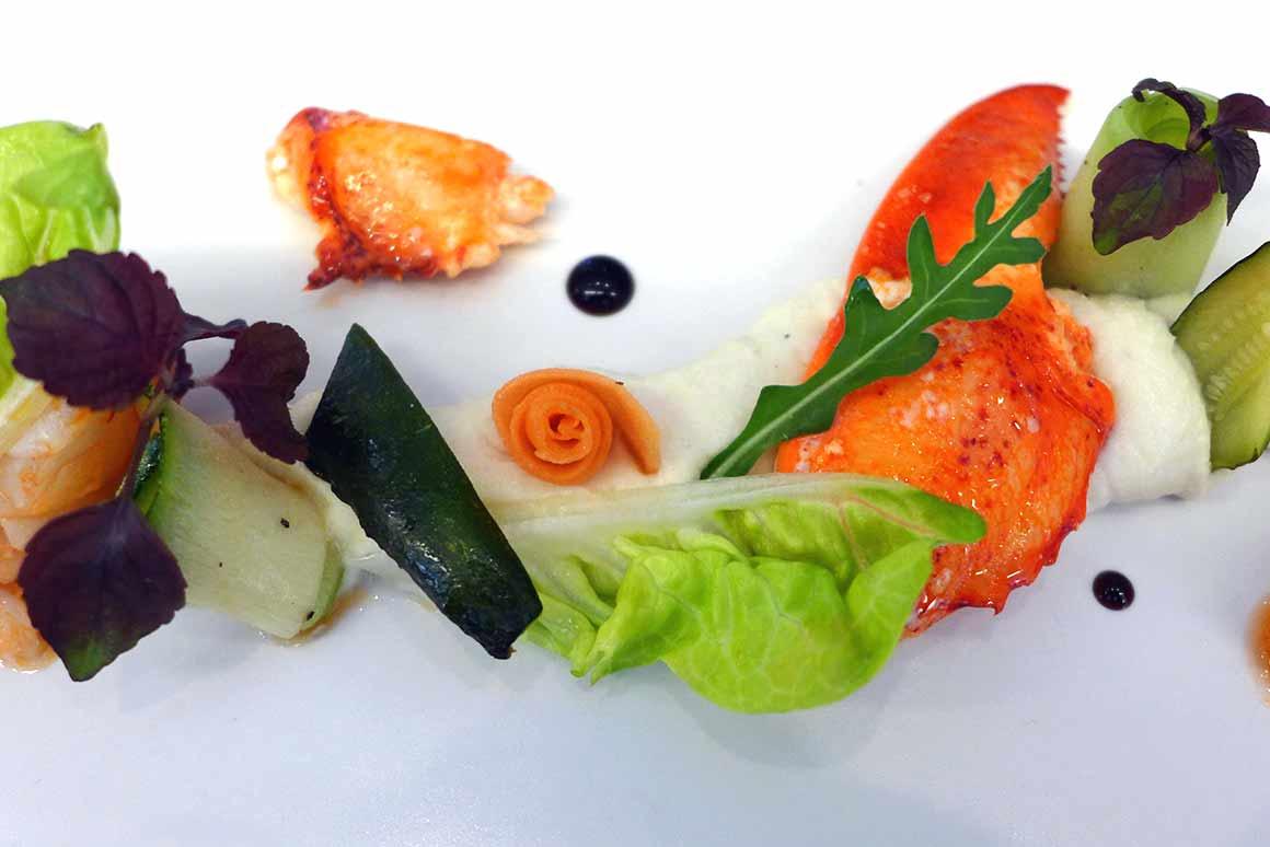 Restaurant La Cuisine de l'E7, Homard bleu avec légumes croquants