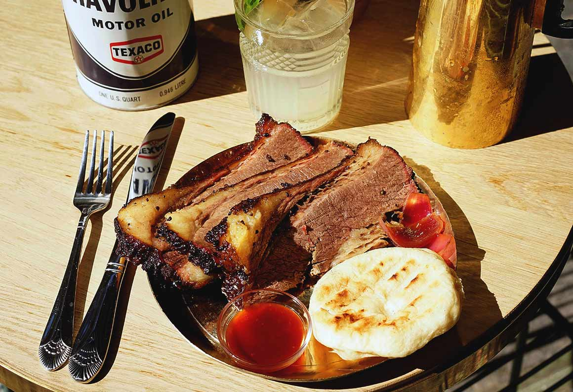 Restaurant Paris Texas : Brisket avec petit pain