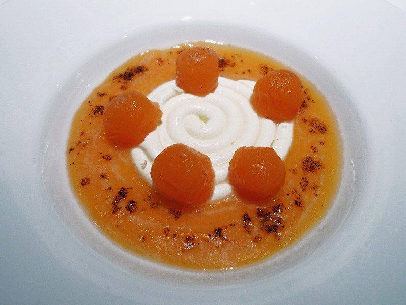 Restaurant La Dame de Pic, melon Charentais