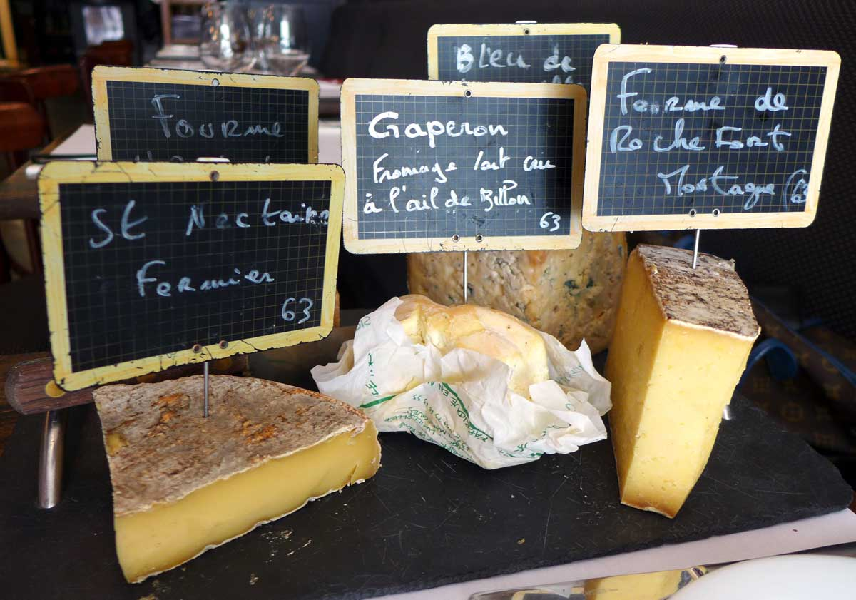 Bistrot La Ferrandaise : Planche de fromages fermiers