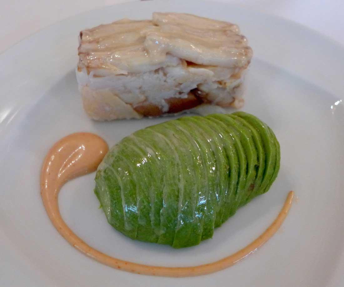 Restaurant La Fontaine Gaillon, tourteau frais avocat vinaigrette