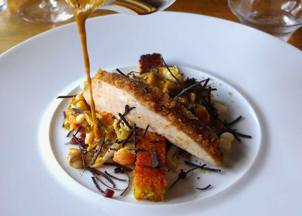 Restaurant La Fourchette du Printemps, Ecrevisses poêlées