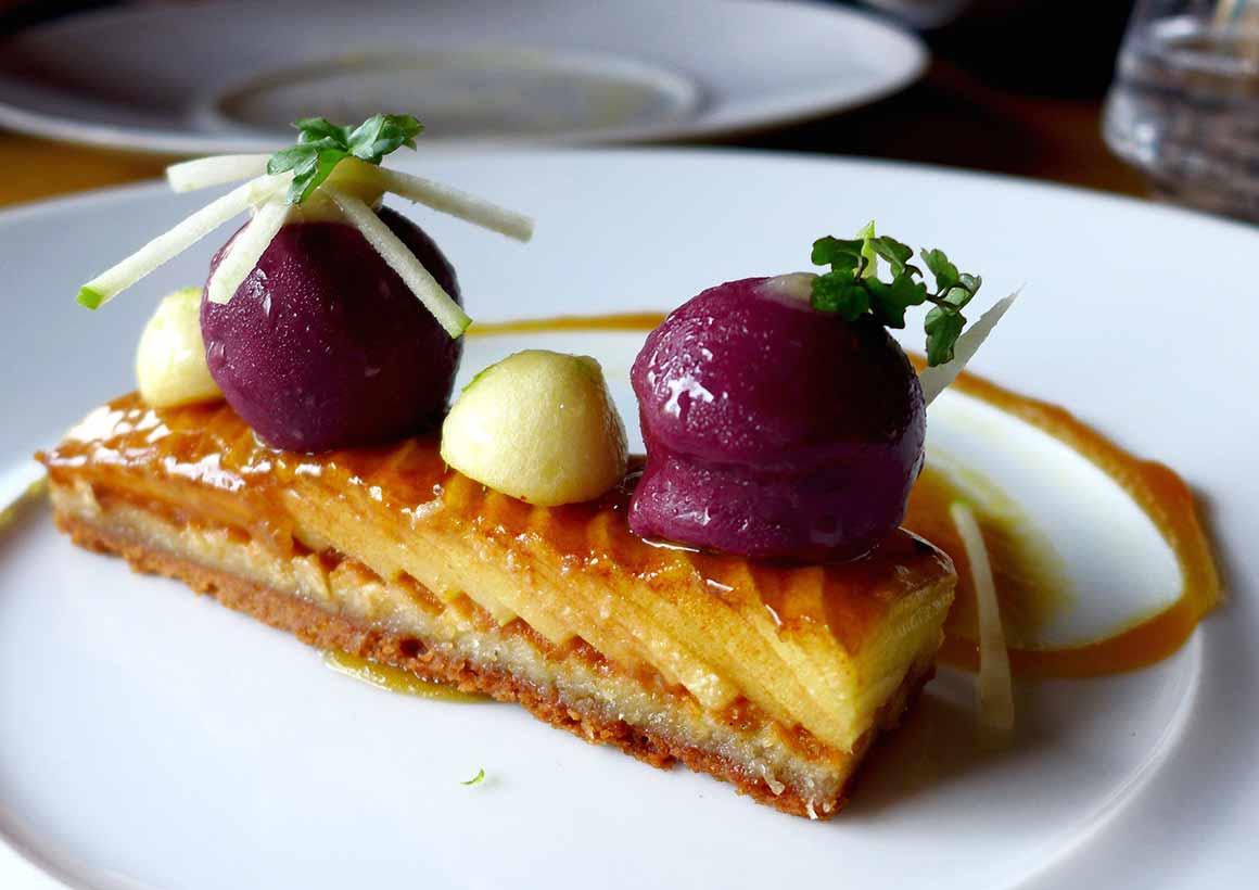 Restaurant La Fourchette du Printemps, Tarte fine aux pommes