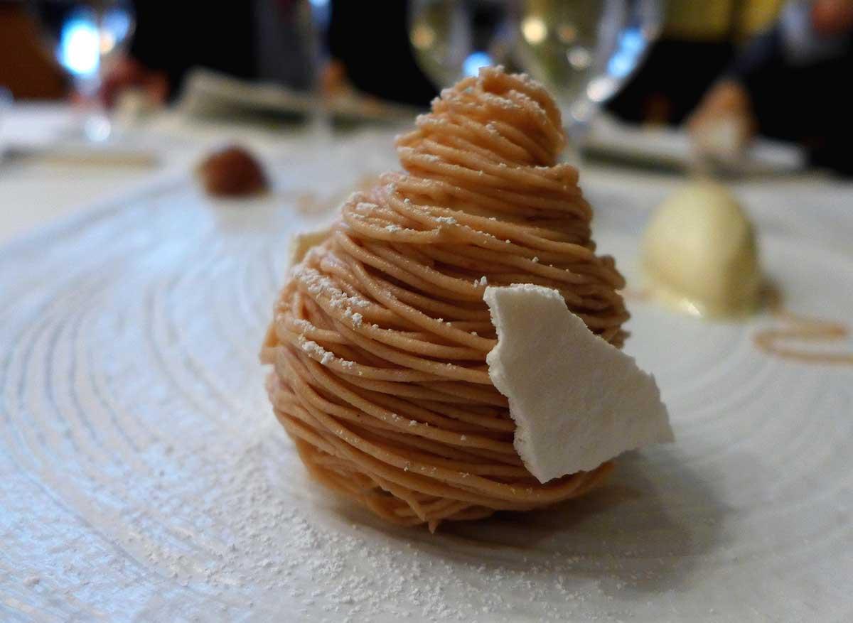 Restaurant La Galerie du George V : Mont-Blanc châtaigne