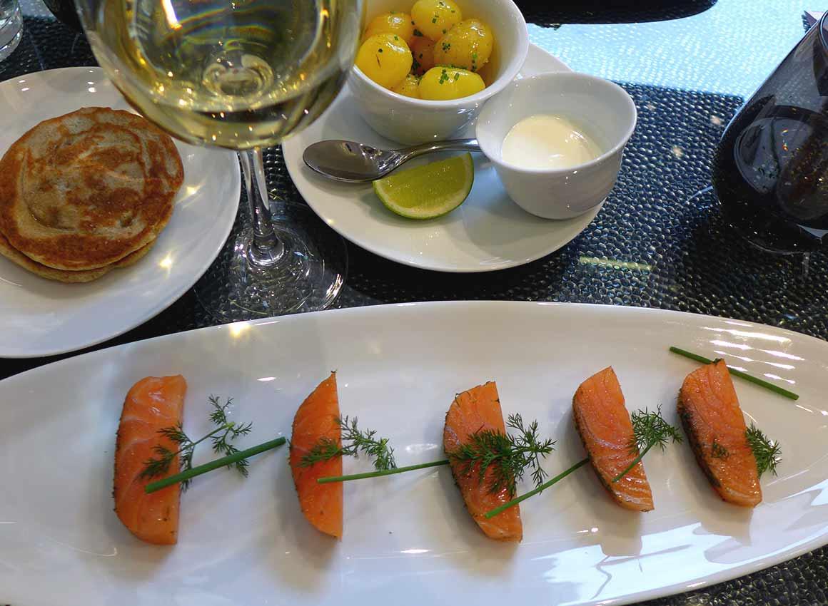 Restaurant La Maison Nordique : Cœur de saumon mariné