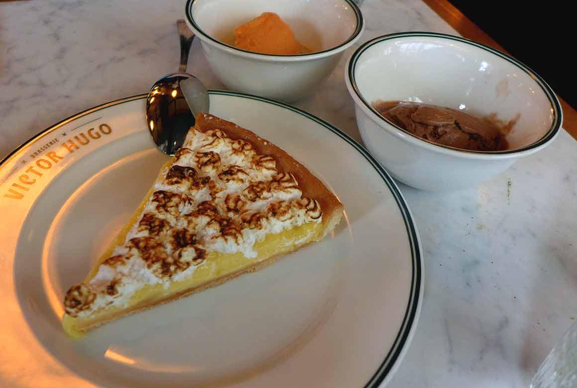 Brasserie Victor Hugo, tarte au citron