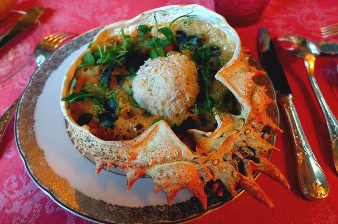 Restaurant Lapérouse : Araignée de mer décortiquée