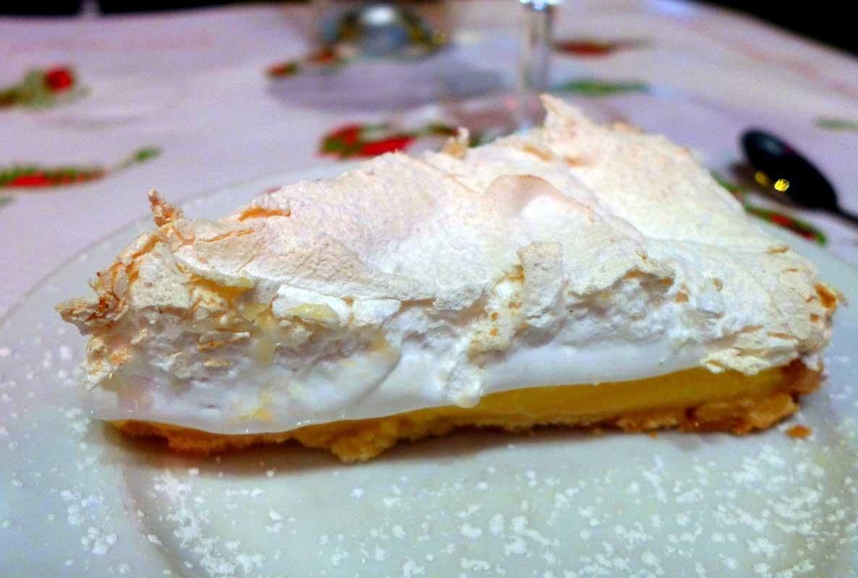 Pizzeria d'Auteuil, tarte au citron meringuée