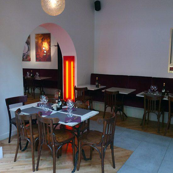 Restaurant La Pizzetta, L'entrée du restaurant