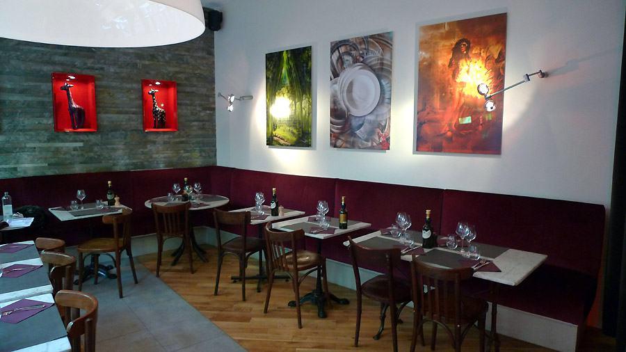 Restaurant La Pizzetta, la salle