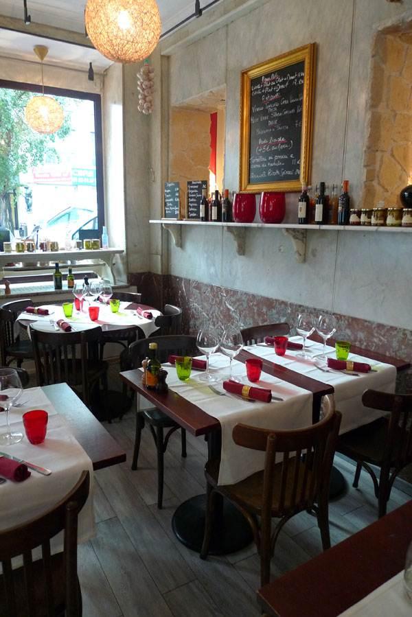 Restaurant La Rosa, la salle