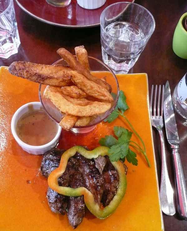 Restaurant La Rose de France, un plat