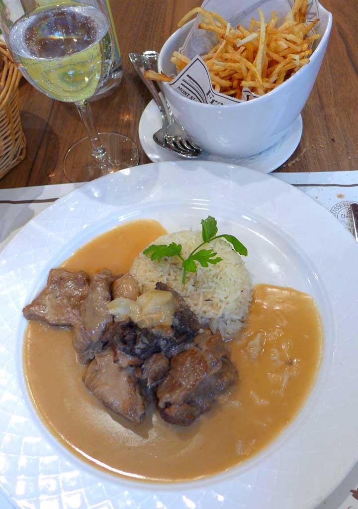 Restaurant La Rôtisserie d'en Face : Mijoté de veau du Limousin