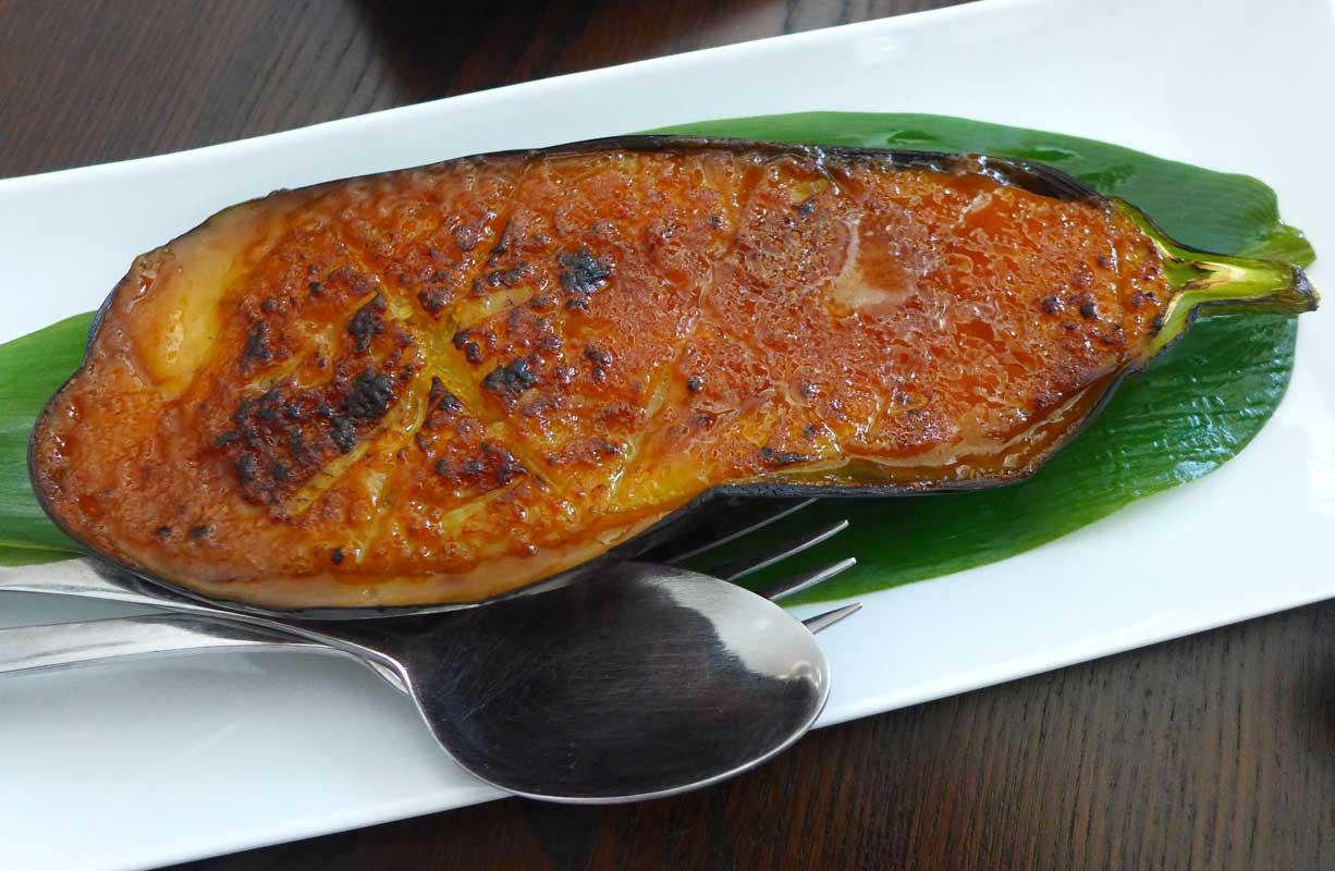 Restaurant La Route de la Soie, aubergine gratinée
