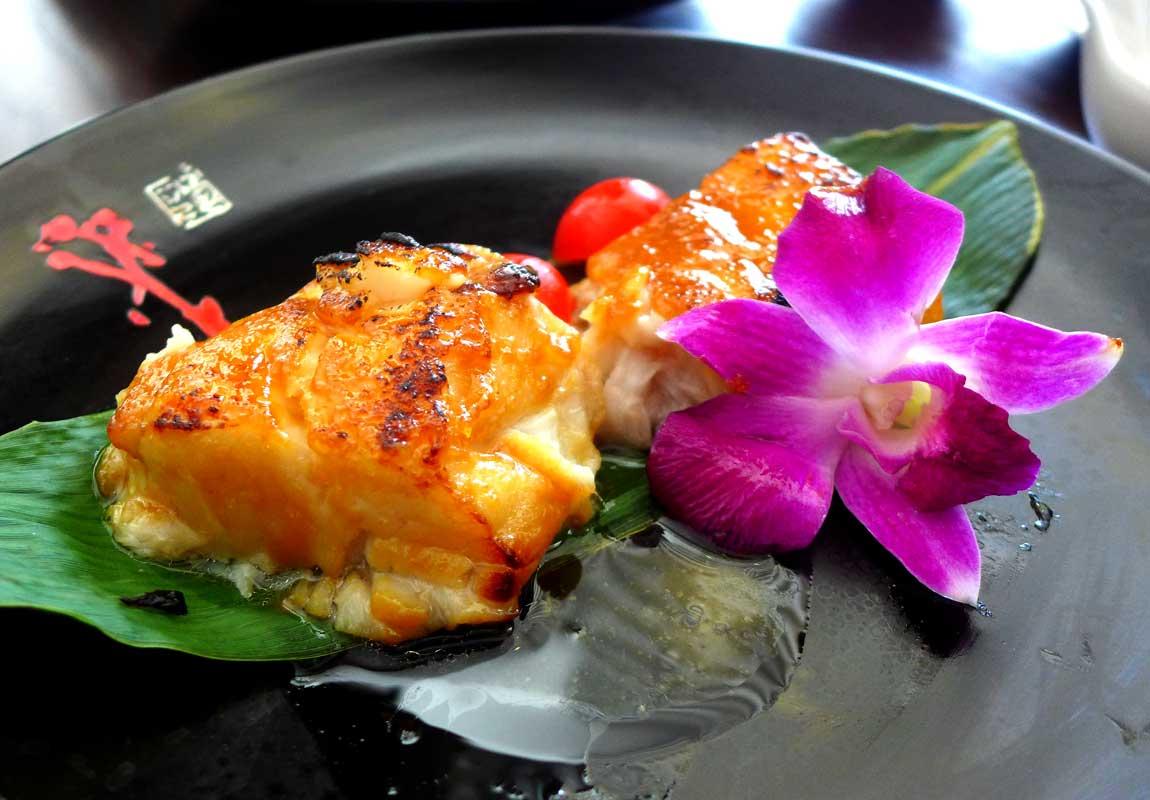 Restaurant La Route de la Soie, black cod grillé