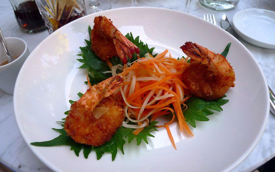 Restaurant La Villa : Salade thaï de gambas croustillantes