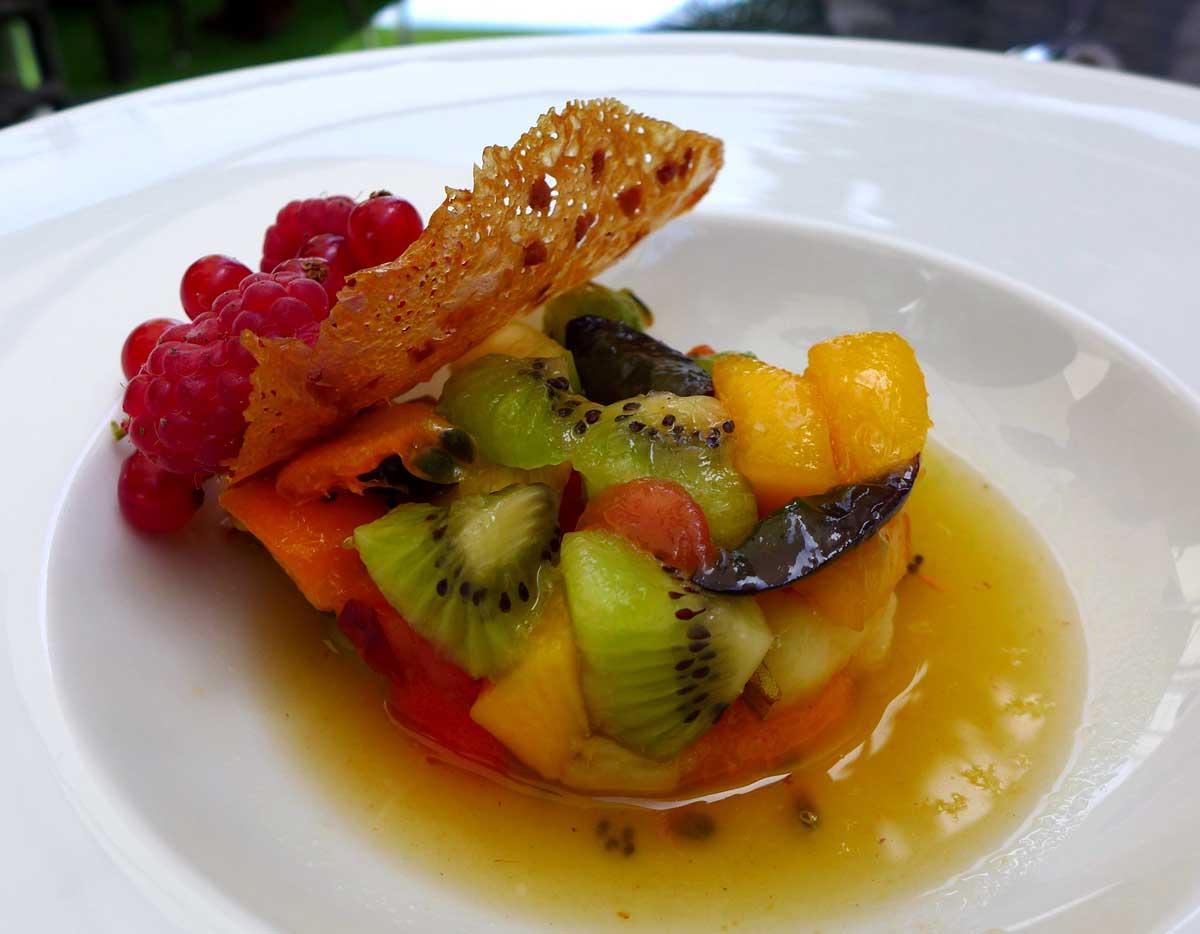 Restaurant LE W : Salade de fruits frais