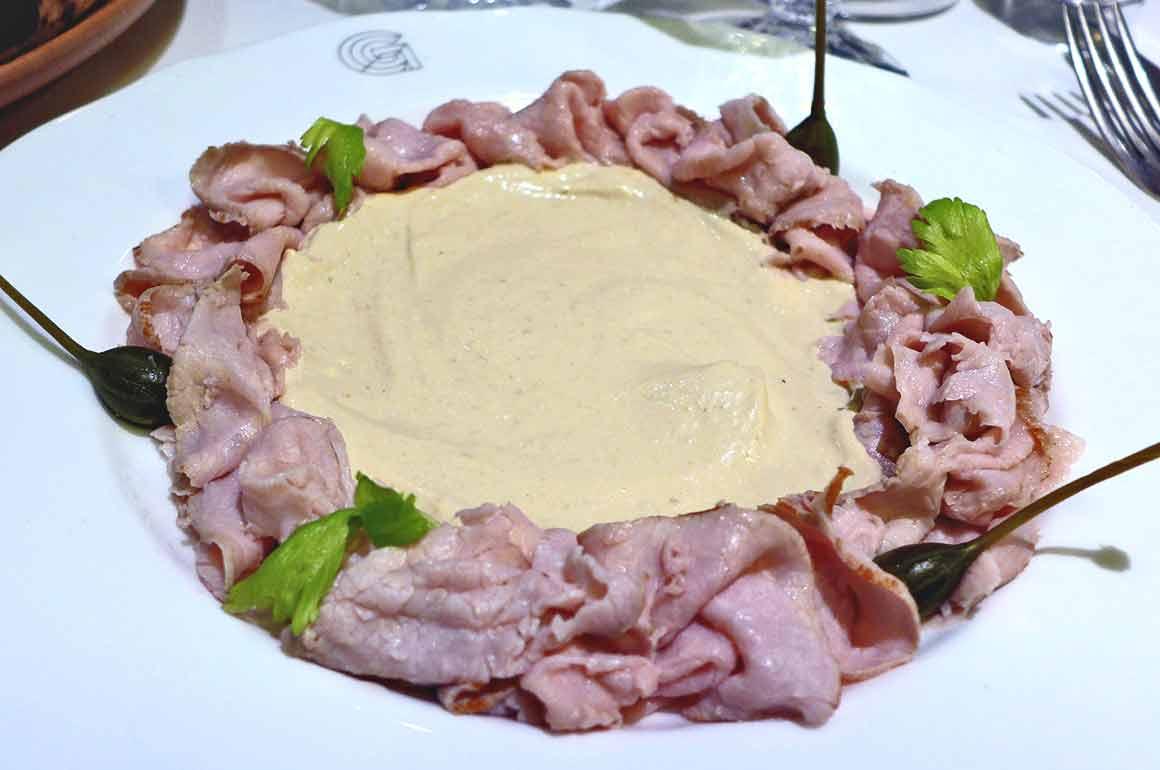 Restaurant Giusé, vitello tonnato
