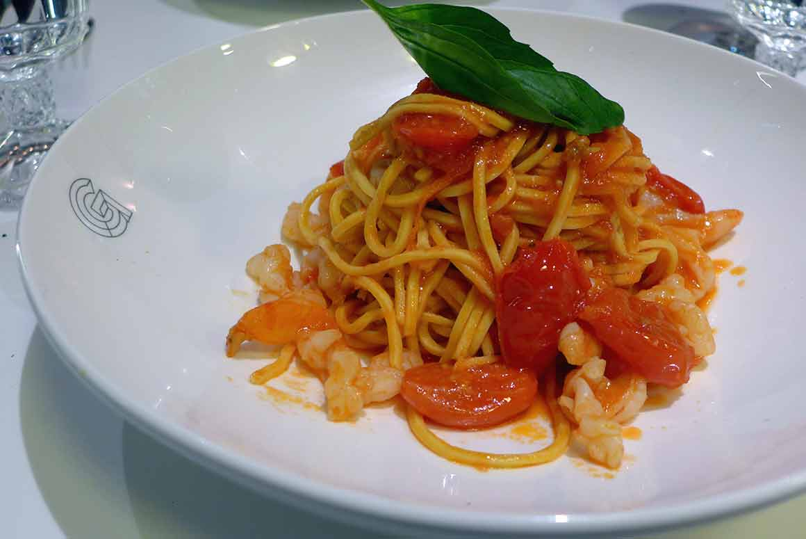 Restaurant Giusé, spaghettis et gambas