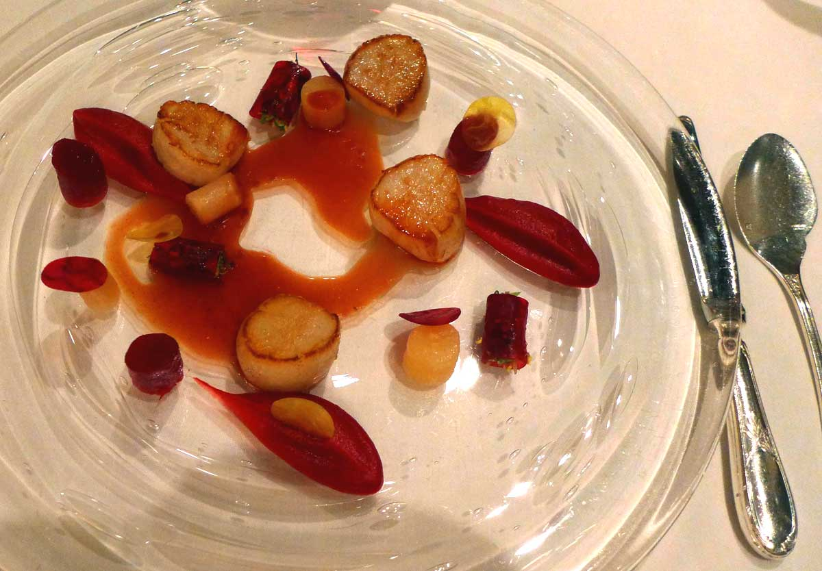 Restaurant L'Abeille, Saint-Jacques dorées