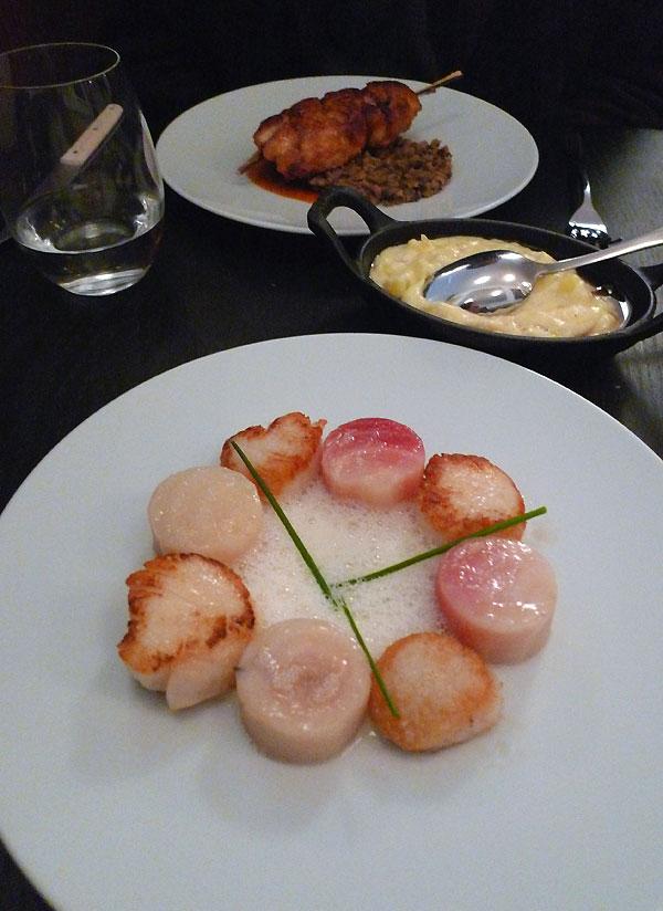 Restaurant L'Affable, Les noix de Saint-Jacques snackées