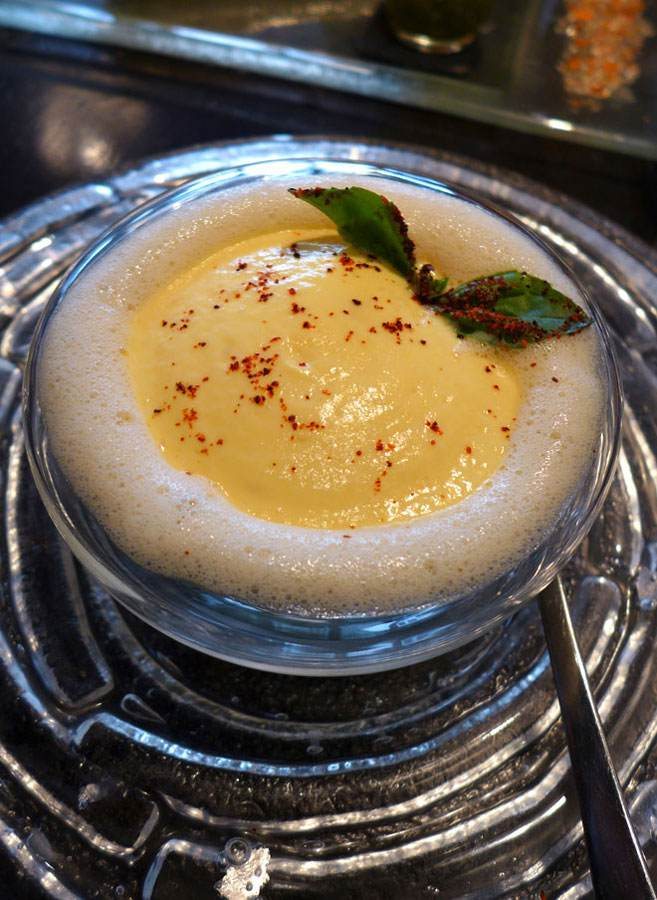 Restaurant L'Affriolé : Œufs brouillés aux épinards champignons