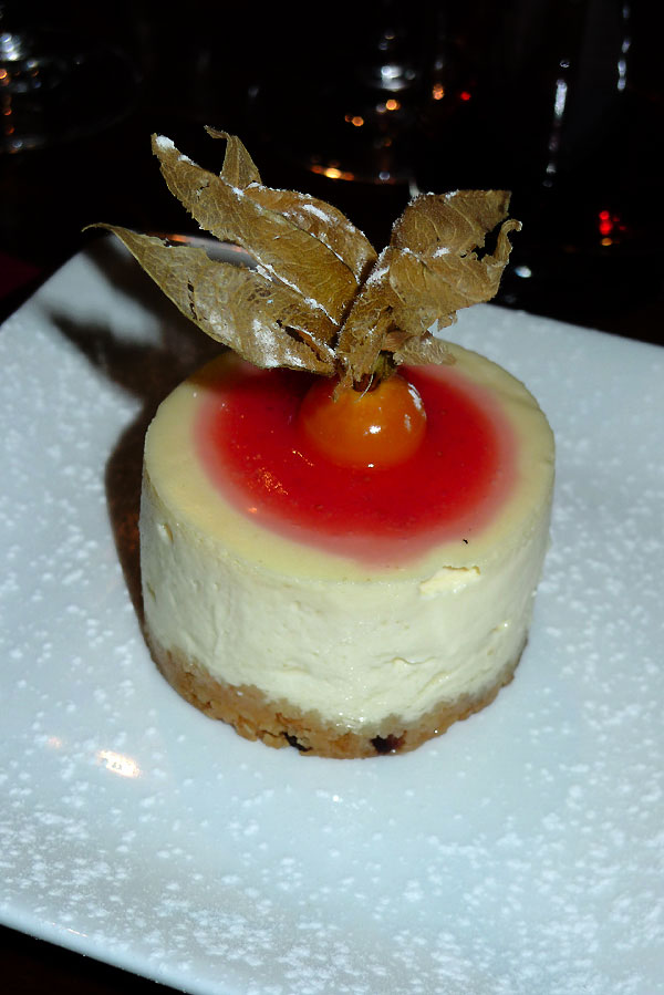 Restaurant L'Alivi, cheesecake aux canistrelli
