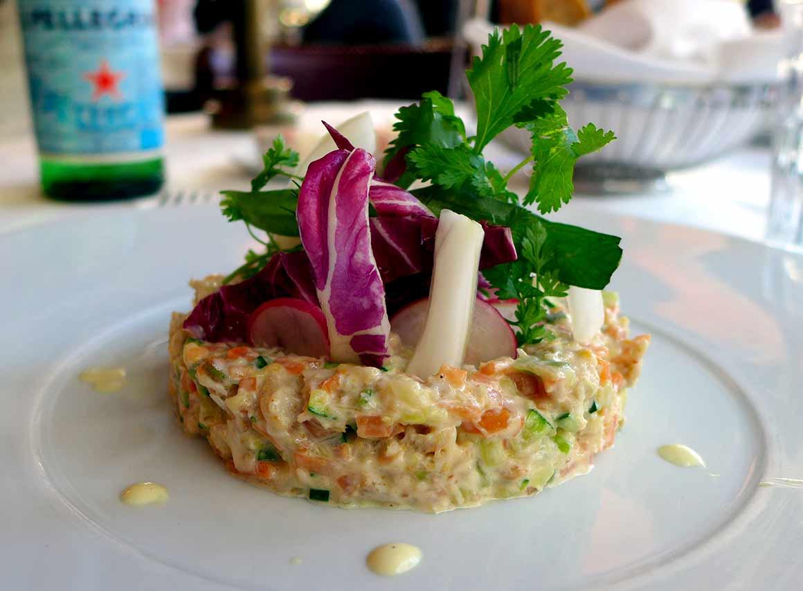 Restaurant L'Alsace, cocktail avocat-crevettes