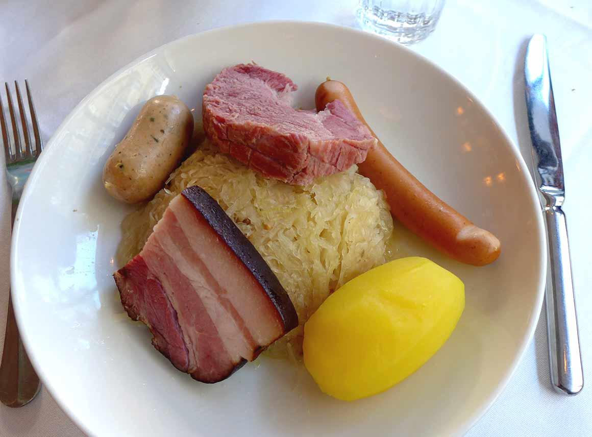 Restaurant L'Alsace, Choucroute