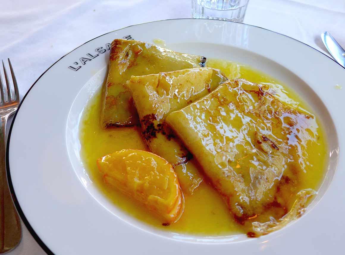 Restaurant L'Alsace, Les crêpes flambées