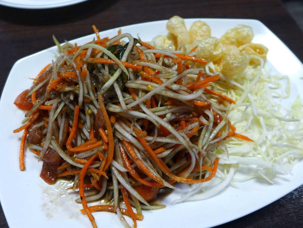 Restaurant Lao Douang Chan, Salade de papaye