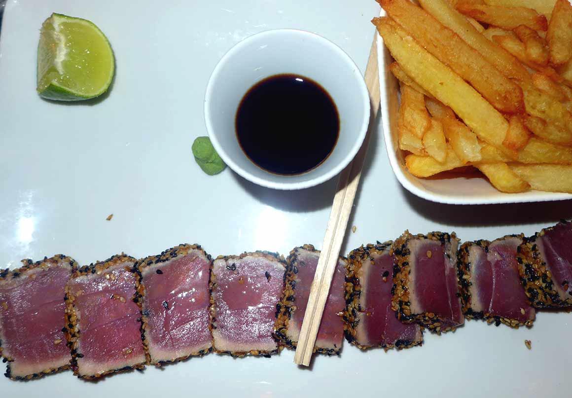 Restaurant L'Apollo : Tataki de thon au sésame sauce soja