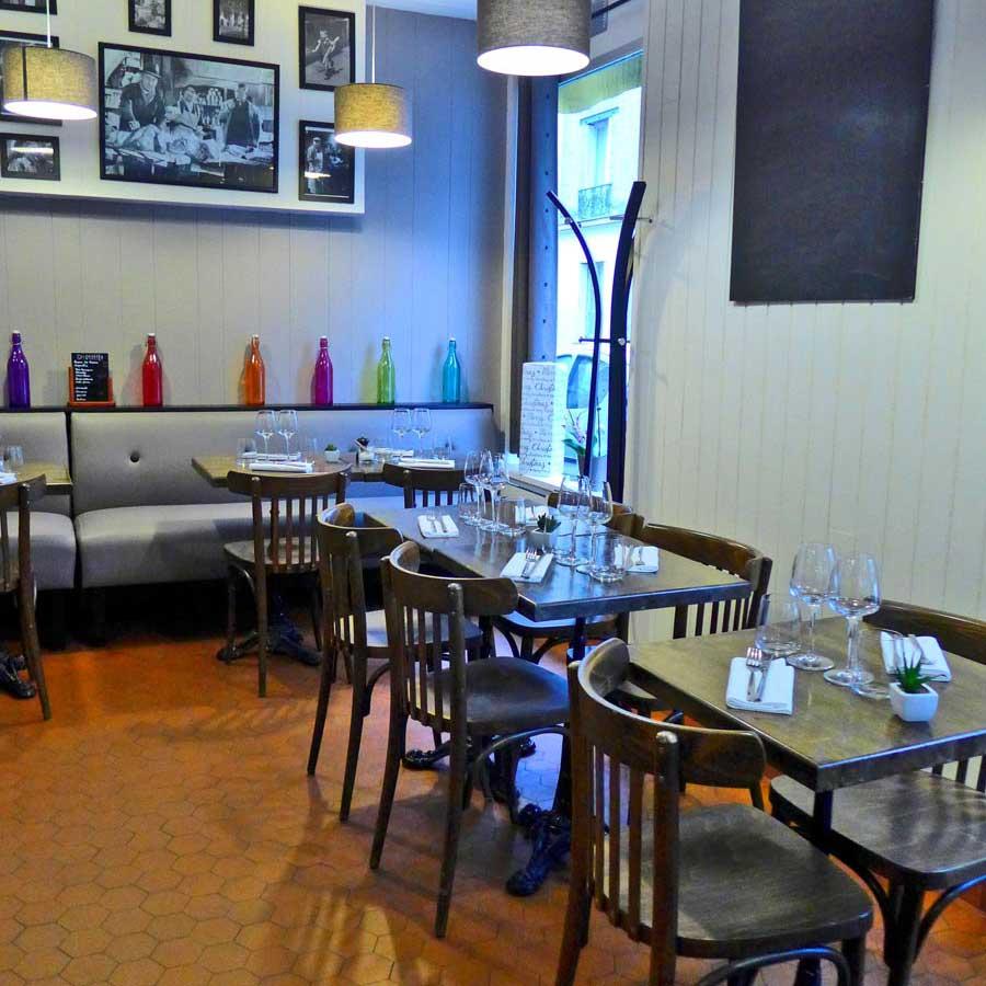 Restaurant L'Ardoise du XV, La salle