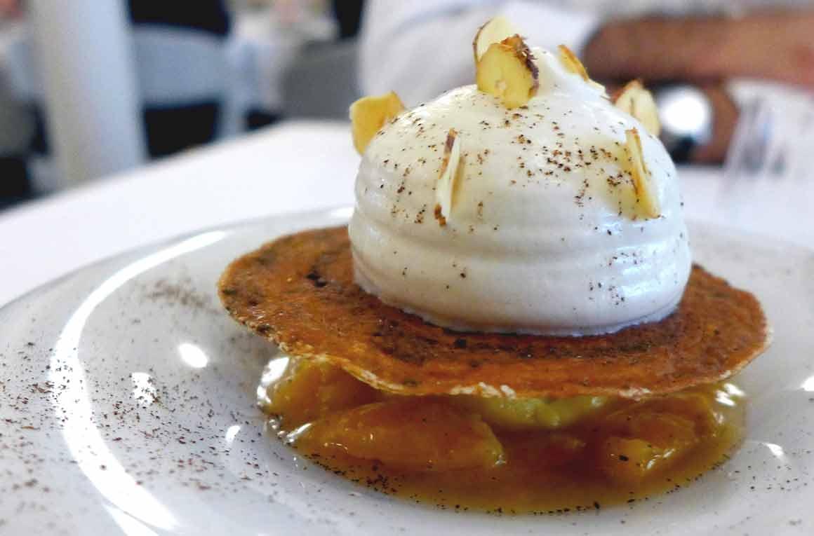 Restaurant l'Arôme, les mirabelles fondantes