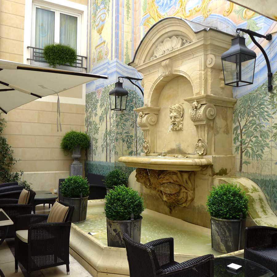 Restaurant l'Assaggio, le charmant patio