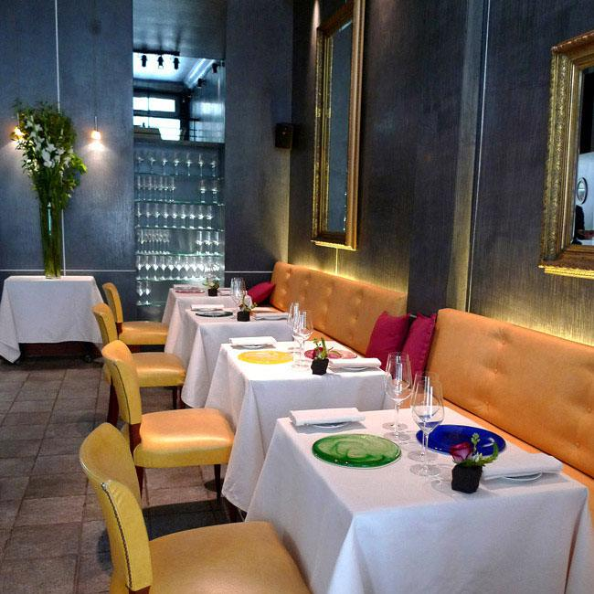 La salle du restaurant L'Astrance