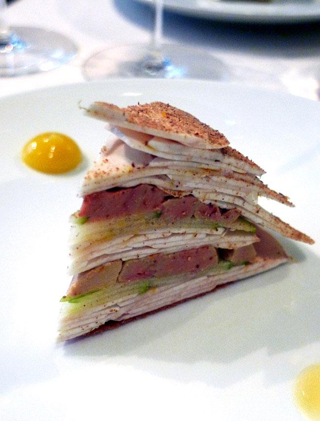 Restaurant L'Astrance : Foie gras mariné et millefeuille