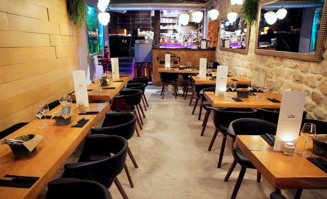 Restaurant L'Atelier Carnem, la salle