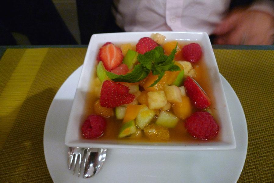 Restaurant L'Atelier de l'Escalope, salade de fruits