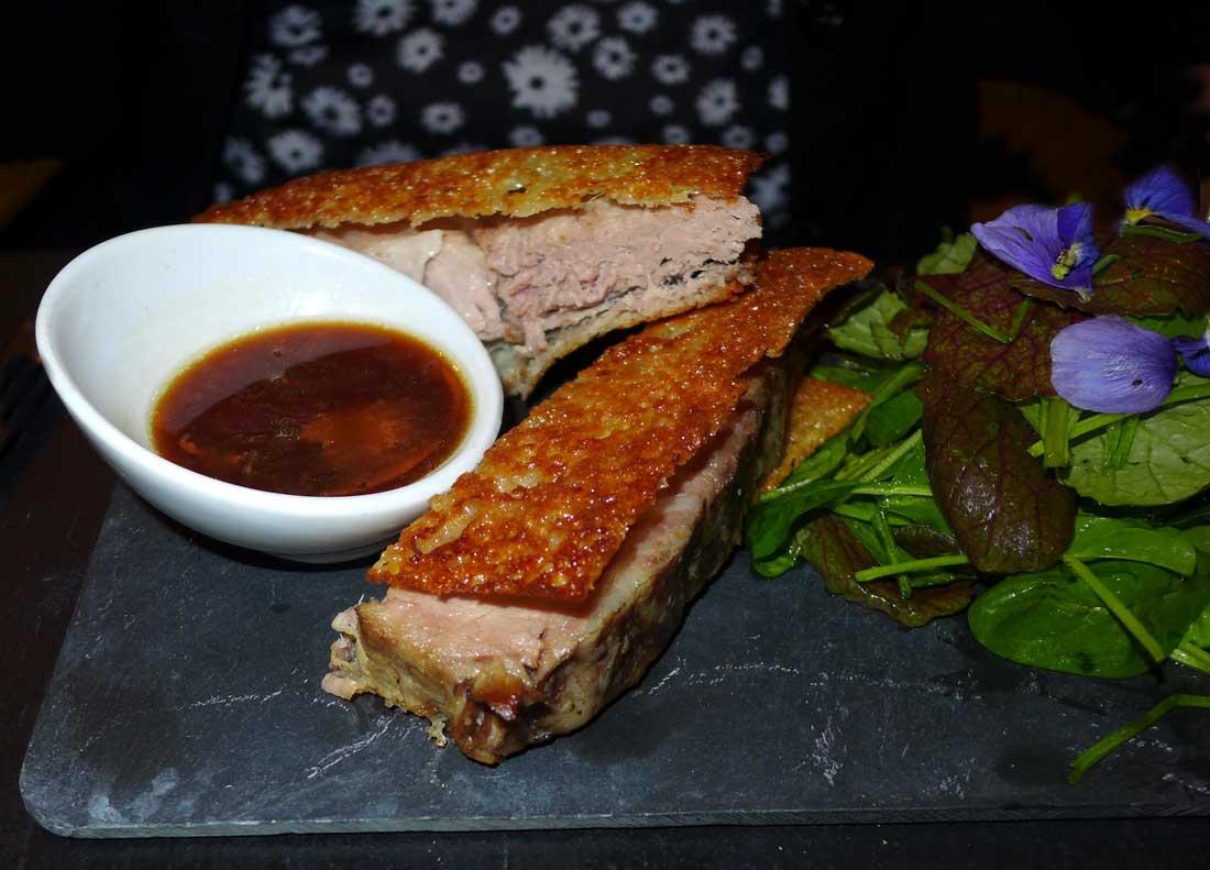 Restaurant Atelier des Artistes, échine de porc
