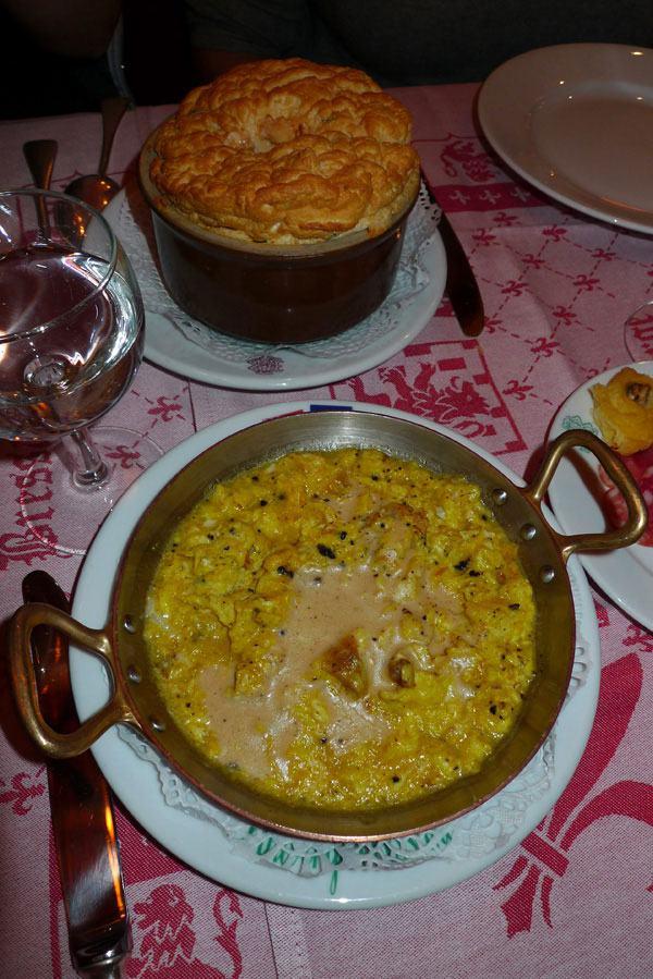 Auberge Bressane, oeufs brouillés aux truffes