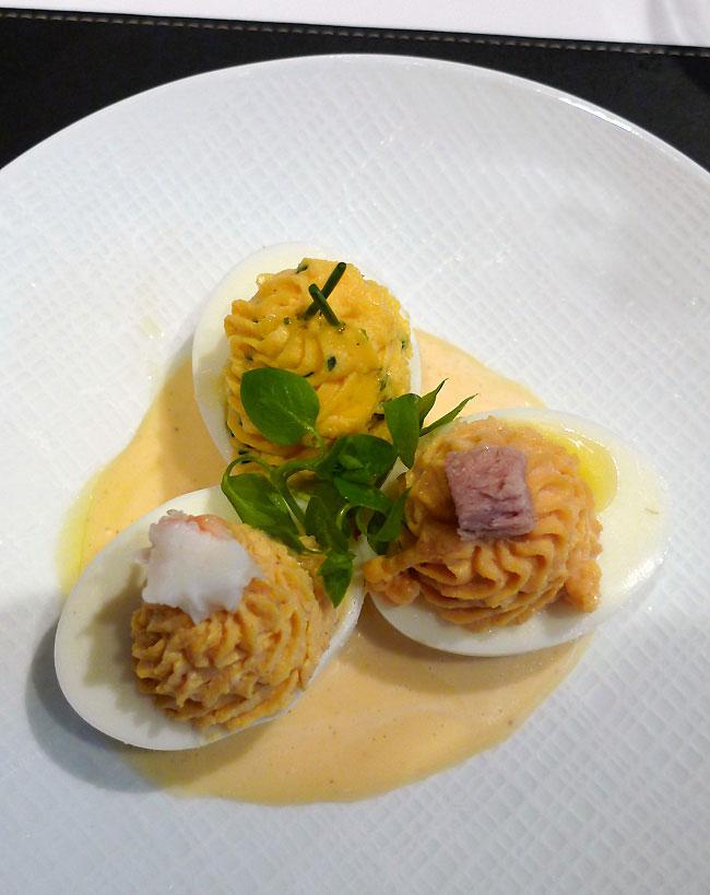 Restaurant Lazare, Œuf mimosa