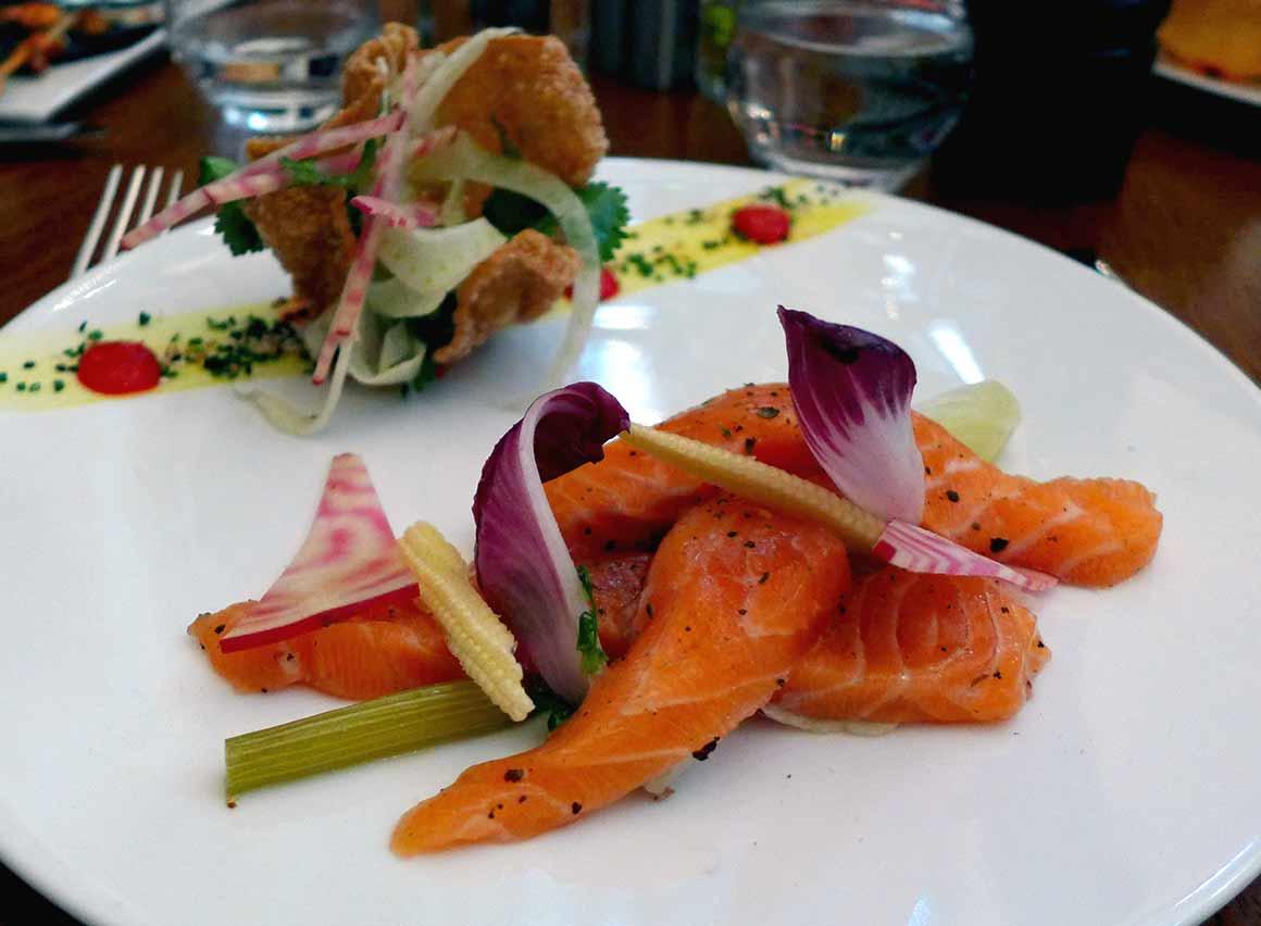 Restaurant Le 141, saumon gravlax