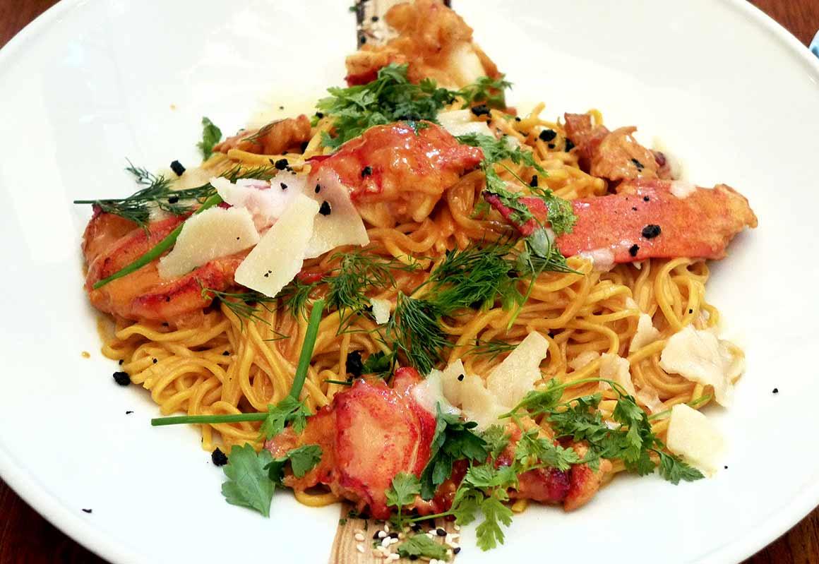 Restaurant Le 141, linguine au homard