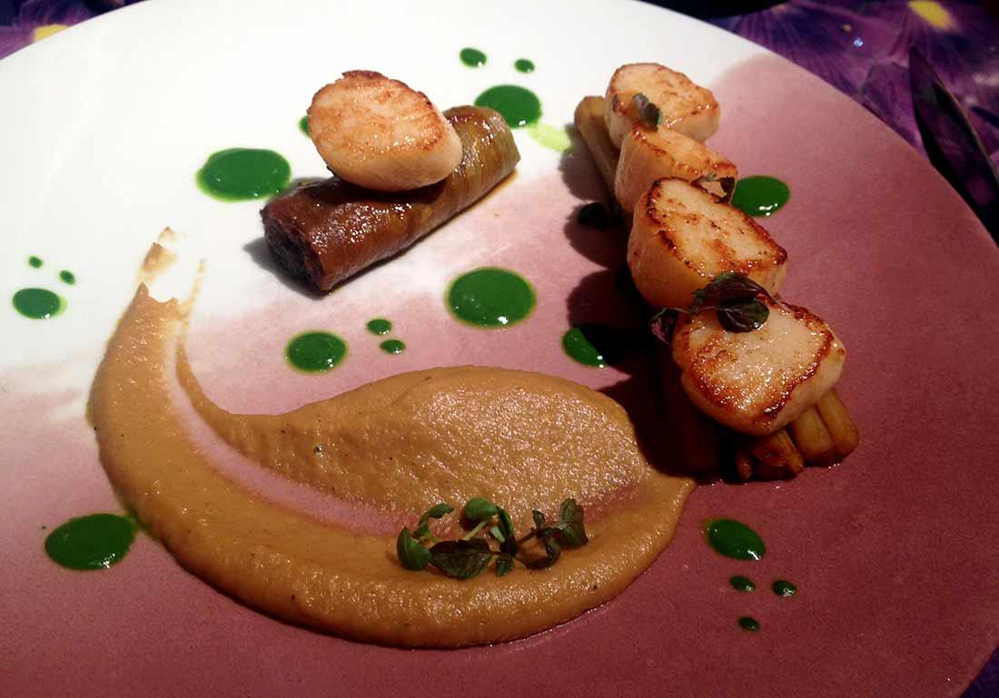 Restaurant Le 68 Guy MARTIN : Noix de Saint-Jacques rôties