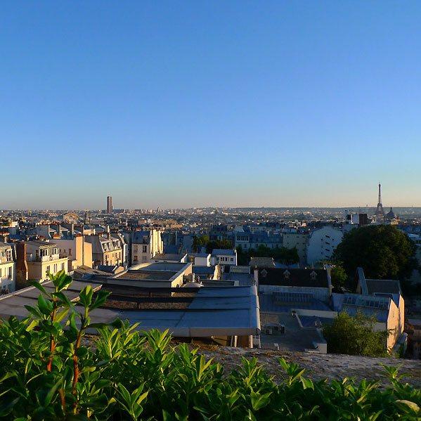 Restaurant Le 7th : Sommet de l'hôtel, vue panoramique sur Paris