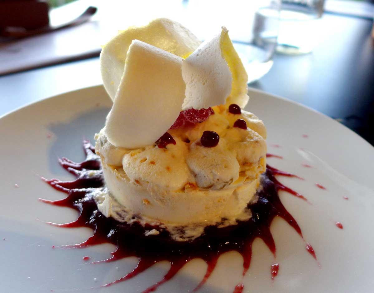 Restaurant LE BALCON, Nougat glacé aux écorces confites